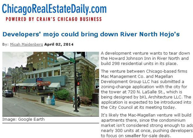 bKL Designed Residential Tower Planned for River North