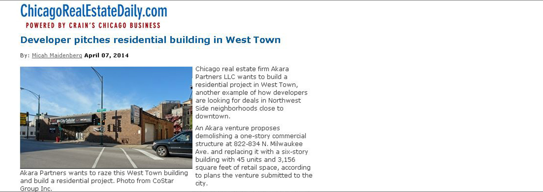 bKL Designed Residential Building Proposed for West Town