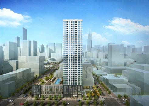 bkl designed 165 w superior adds 298 units to river north apartment building boom bkl architecture. Black Bedroom Furniture Sets. Home Design Ideas